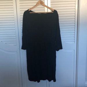 Comfy stylish black dress